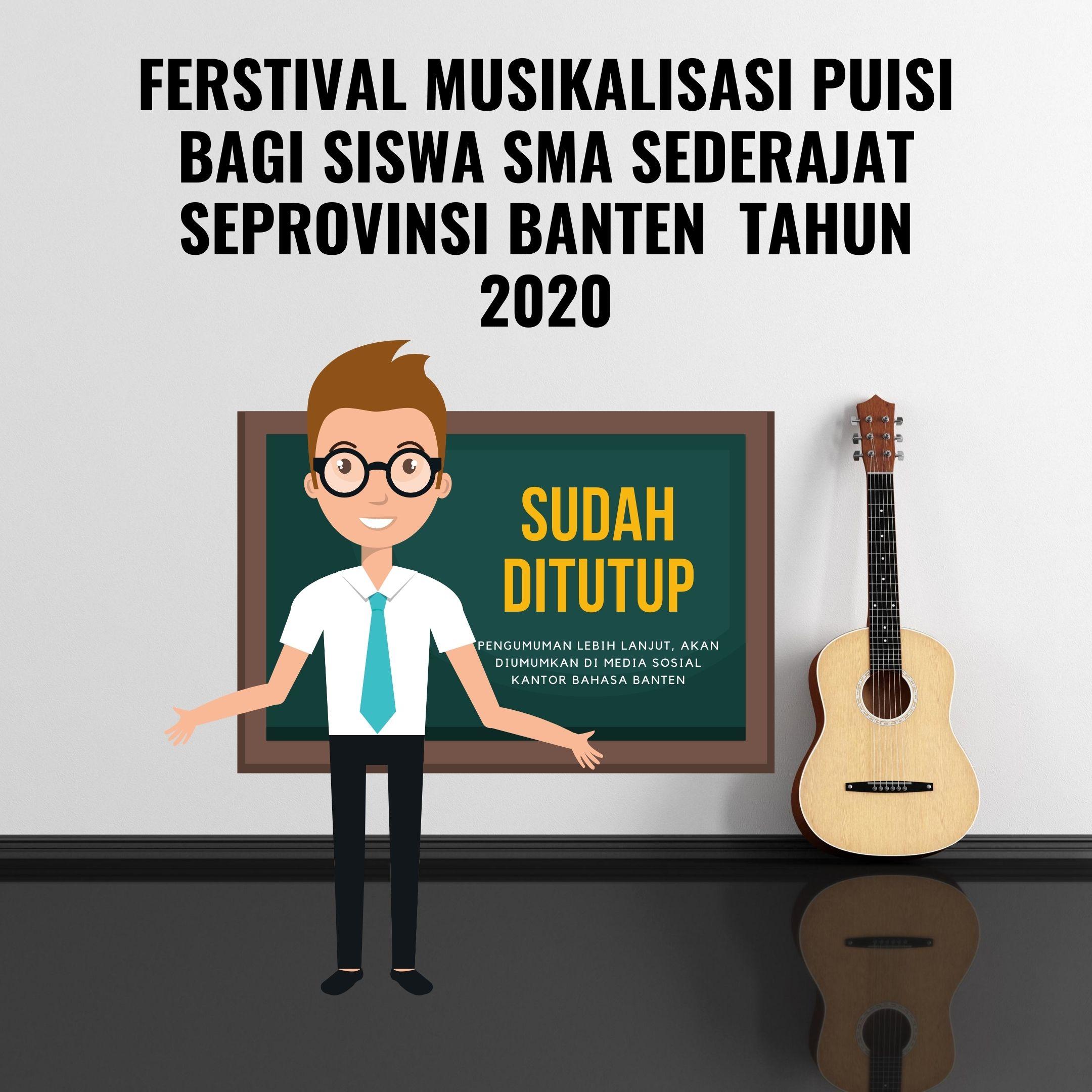Pendaftaran Festival Musikalisasi Puisi Ditutup